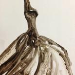 """Karlos Ibarra """"Platanos"""" 16 by 20 acrylic/paper"""