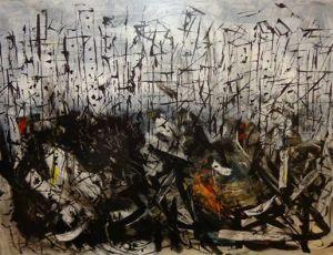 """""""Ciudad"""" acrylic/Canvas 36″ x 48″ 2012."""