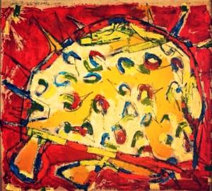 Pez Globo 34 x 44 Acrylic on Paper