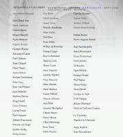 Acquavella Oficial Artist List